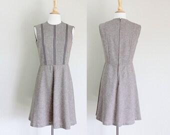 1970s Tweed Dress | Brown Jumper Dress | Wool Jumper | Miss Magnin at I. Magnin | Medium