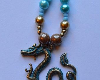 Dragon Bead Pendant Necklace