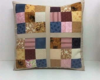 Neutral cushions, Patchwork cushion cover, Cotton Coussin, patchwork squares, unique cushions, Home decor, Sofa cushions, Handmade gifts,