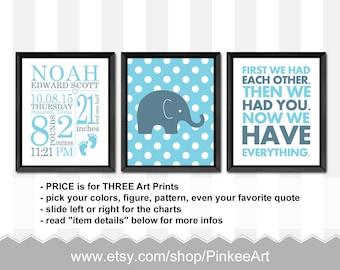 custom birth announcement baby boy, birth stats print polka dots, baby nursery prints, baby boy gift, baby birth stats, personalized baby