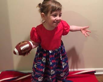 Buffalo Bills Football Girls Red or Blue Dress size 2T, 3T, 4T, 5, 6