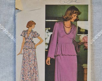 Vintage Butterick 4521 Sewing Pattern Young Juniors Teen Top Skirt Size 5 6  DIY Sewing Crafts PanchosPorch