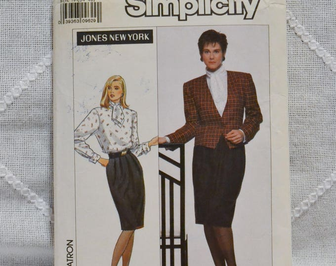 Vintage Simplicity 9409 Sewing Pattern Misses Blouse Skirt Jacket Size 6 to 12 Crafts  DIY Sewing Crafts PanchosPorch