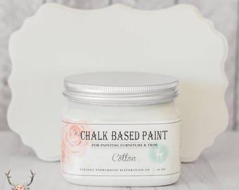 Vintage Storehouse Chalk Based Paint - Cotton