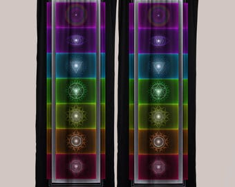 Chakra Curtains (1 Panel) // Psychedelic Men and Womens Festival Clothing, Accessories & Decor by Samuel Farrand