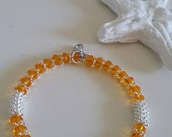 Crystal bracelet handmade hippie Gypsy sarabanda