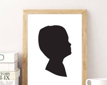 Custom Child Silhouette Image // Customizable Nursery Silhouette // Nursery Custom Child Graphic Design