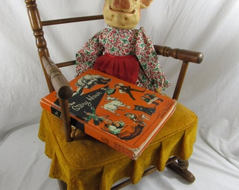 Vintage Child's Rocking Chair Mid Century Rocker Early American Jenny Lind Children's Rocker