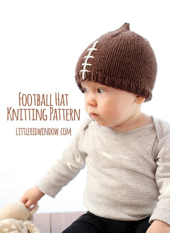 Knit Pattern Baby Football Hat : Football Baby Hat KNITTING PATTERN knit hat pattern for