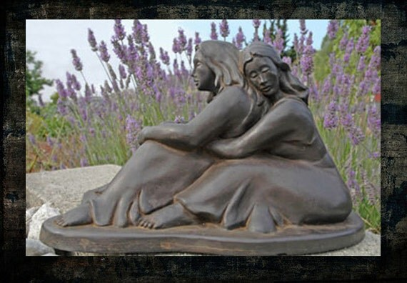 Wedding Statue Gifts: Lesbian Wedding Gift The Couple Resin Figural Statue