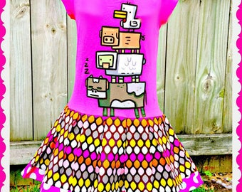 girls Minecraft dress creeper 4/5 6/6X 7/8 10/12 ready to ship