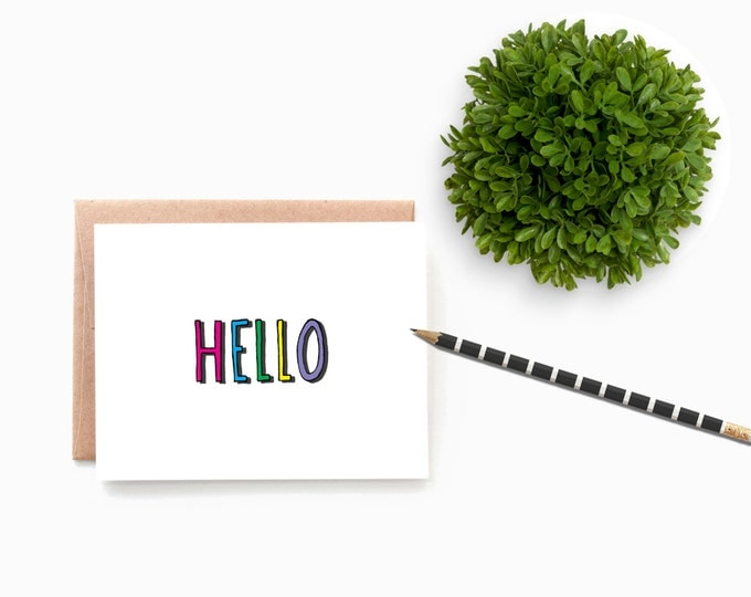 Colorful Hello Notecard Set