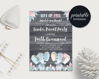gender reveal invitation | etsy, Party invitations