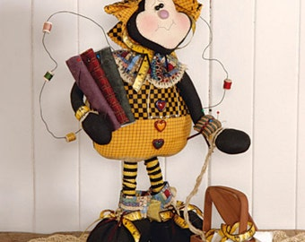 "Doll KIT: Beeatrice - 19"" Quilting Bee Full Kit of supplies"