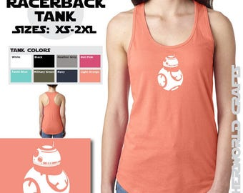 BB8 - Ladies Racerback Tank Top - Star Wars
