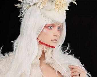 Headdress/Feather Mohawk/ Flower Crown/ Burning Man/Unicorn/ Horned Headdress/ White Headdress/ Feather Headdress