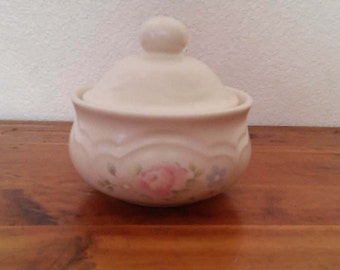 "Pfaltzgraff- Tea Rose- Sugar Bowl W/ Lid-  4 1/2 "" tall x 4 1/4'' wide.."