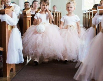Ivory Short Sleeve Flower Girl Dress