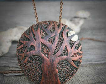 Tree of life Necklace Tree jewelry romantic jewelry polymer clay tree pendant tree necklace woodland jewelry nature necklace unique gift
