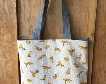 Fox canvas tote bag- Everyday Sylvie Tote