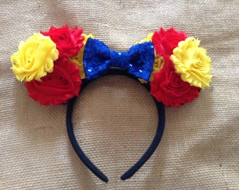 Red,Yellow and Blue Mouse Ears Headband-mouse,ears,party headband-dress up