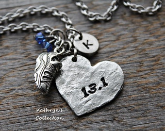 Half Marathon Runner Necklace, Runner, 13.1 Half Marathon, Running Jewelry, Running Necklace