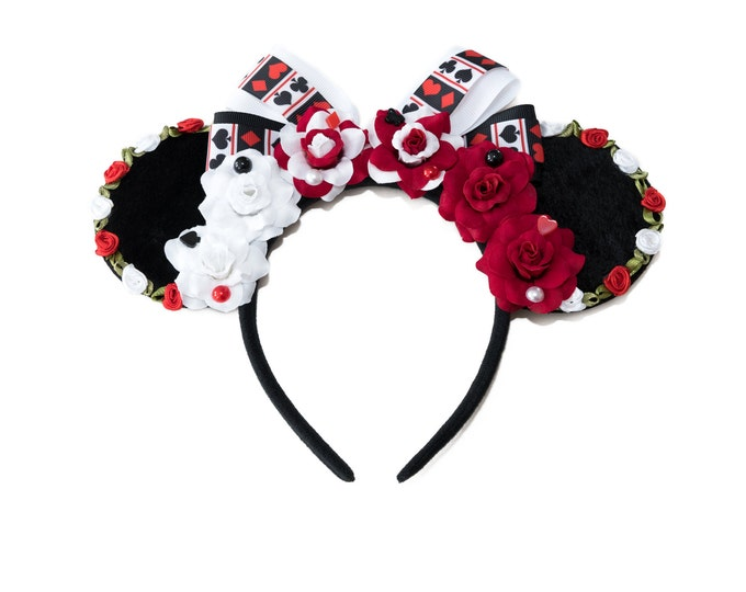 Painting the Roses Red Mouse Ears Headband