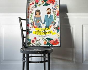 Unique wedding gift - Custom-OVERNIGHT SHIPPING