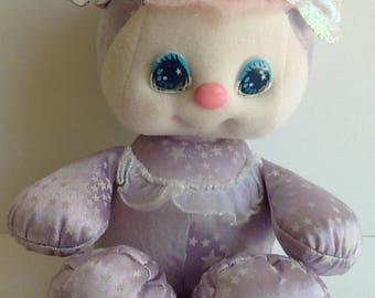 1989 Mattel PJ SPARKLES Sparklins Pet Lavender Bear