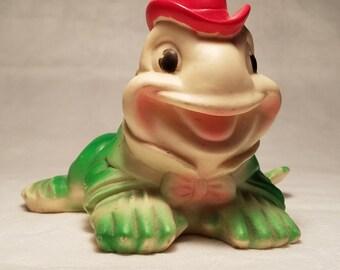 Vintage Vinyl Frog Sun Rubber Co. 1955 Squeak Toy – Works / Soft