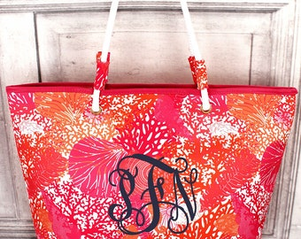 Back In Monogram Lilly Pulitzer Inspired Totes Personalized