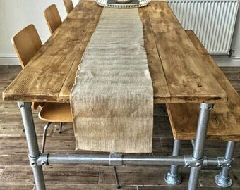 Industrial Scaffold Board Table and Bench