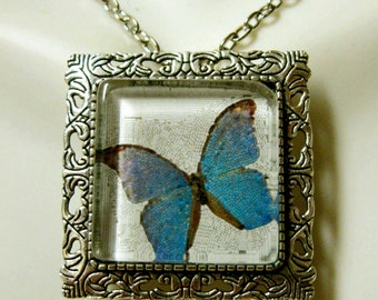 Butterfly convertible pendant or brooch with chain - WAP35-003
