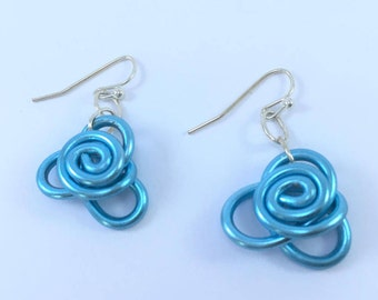 Rose Bud Earrings Short
