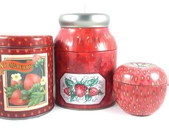Strawberry Tin Set
