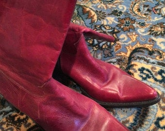 Red boots by Steve Madden size 7