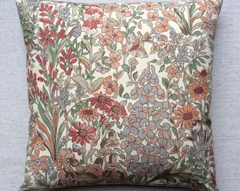 "Vintage Liberty Of London ""Penelope"" Floral Fabric Cushion With Interior 40cm x 40cm"