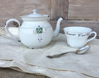 Vintage Enamel Tea Pot