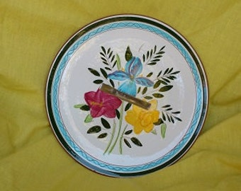 Stangl cookie plate,vintage Stangl,Stangl plate,Country Garden Stangle,hand painted Stangl,Retro Stangl plate,Stangl pottery,Stangl platter