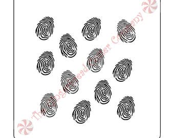 Fingerprint Background Cookie Stencil