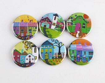 "1.25"" fridge magnet,locker magnet, housewarming giveaway gift favor"