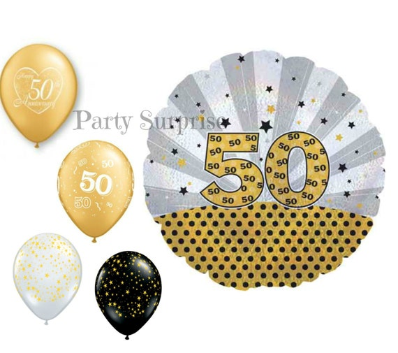 50th anniversary 50th birthday balloons 50th party for 50th birthday decoration packages