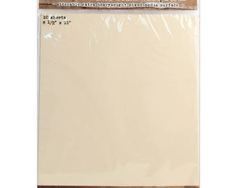 "Ranger Tim Holtz Distress Mixed Media Heavystock Tags - 8.5"" x 11"" - Pack of 10"