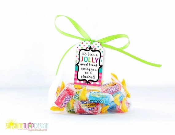 Printable Jolly Rancher Gift Tags from the Teacher to Student