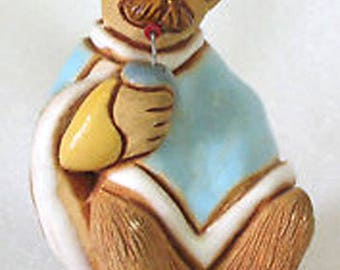 Artesania Torreon Man w/Drink Clay Figurine Uruguay Wears Ruana