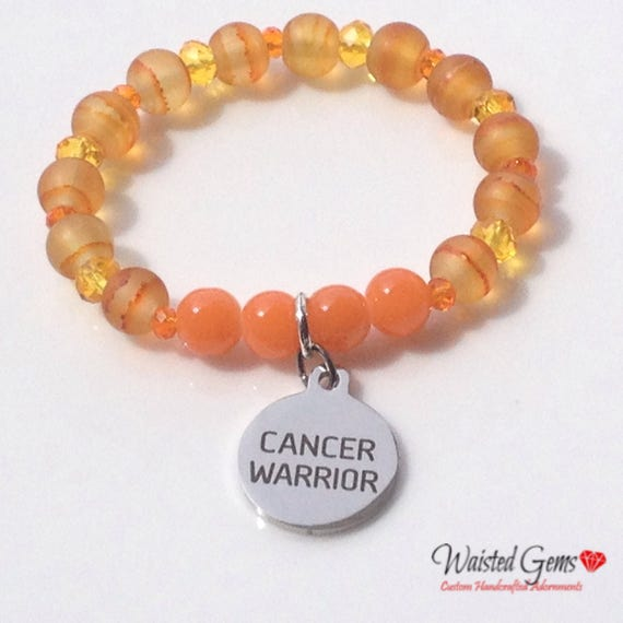 Wilms Cancer Awareness Stretch Bracelet, Cancer Awareness Jewelry, Survivors, Children Cancer, F#ck Cancer, zmw1104