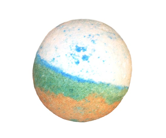 CLEARWATER Bath Bomb - Take a Dip with Organic Avocado Oil, Cocoa Butter & Sea Salt - / Vegan / Bath Fizzer / Florida / Coconut / Pineapple