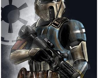 Rouge One Scarif Stormtrooper (Shoretrooper) Star Wars Print