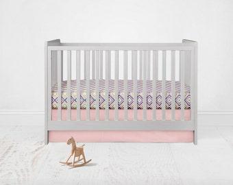 Straight Crib Skirt - Kona Cotton - Baby Pink. Baby Bedding. Crib Bedding. Crib Skirt. Pink Crib Skirt.