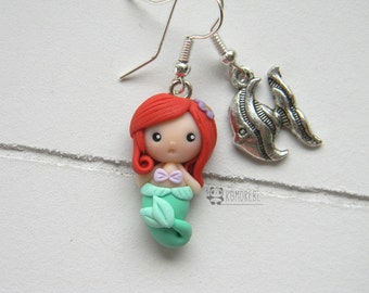 Ariel, the Little Mermaid, The Little Mermaid inspired, earrings